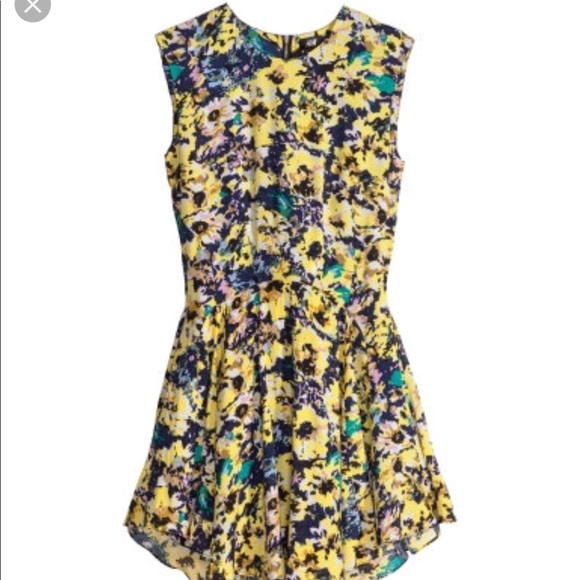 ab88876afd0f H&M Dresses | Yellow Floral Dress | Poshmark